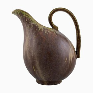 Vintage Glazed Ceramic Jug with Handle by Arne Bang