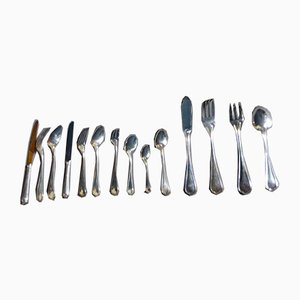 Vintage Silver Metal Household Cutlery from Christofle, Set of 180