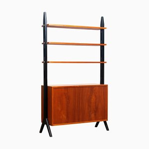 Swedish Teak Shelf Bookcase, 1950s