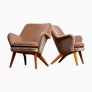 Lounge Chairs by Carl Gustav Hiort af Ornäs for Puunveisto Oy, 1952, Set of 2