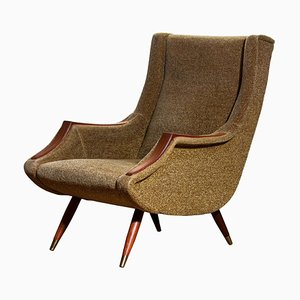 Italian Lounge Chair by Aldo Morbelli for ISA Bergamo, 1950s