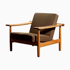 Oak Lounge Chair, Denmark, 1960s