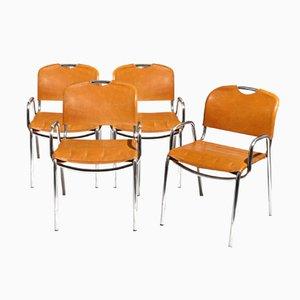 Castiglia Chairs by A. Castiglioni & M. Minale for Zanotta, Set of 4