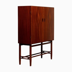 Mid-Century Mahogany Dry Bar Cabinet from Forenades Mobler, Sweden, 1952
