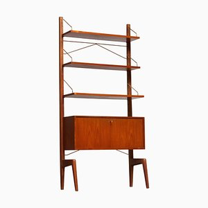 Teak Freestanding Bookcase Shelf by Poul Cadovius for Gustav Bahus, 1950s