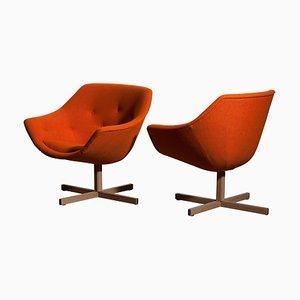 Mandarini Swivel Armchairs by Carl Gustaf Hiort & Nanna Ditzel for Puun Veisto OY, 1960s, Set of 2