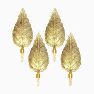 Large Gold Murano Glass Sconce from Barovier & Toso, 1960s