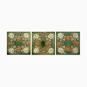 Art Nouveau Glazed Tile, 1920s