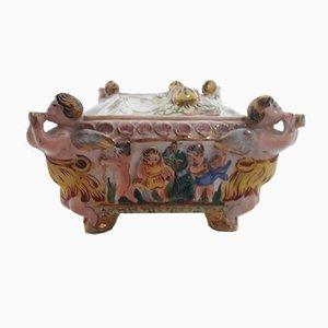Keramik Tintenfass, 1800er