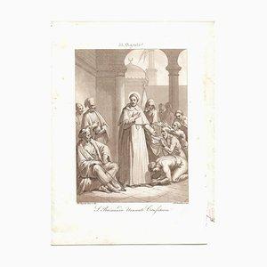 31 August San Raimondo Nonnato Confessor Engraving by F. Bigioli