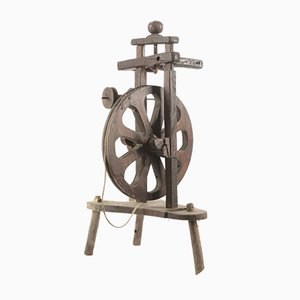 Italian Spinning Wheel, 1800s