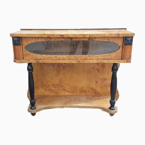 Italian Art Deco Poplar Briar Console Table