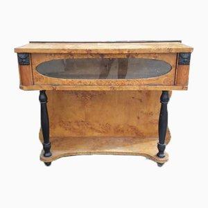 Italian Art Deco Poplar Briar Console Table