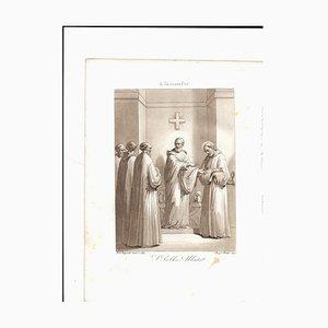 December 5 San Sabba Abate Engraving by F. Bigioli