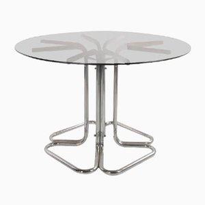 4-Blatt Stahl Tisch, Italien, 1960er
