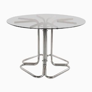 4-Leaf Steel Base Table, Italy, 1960s