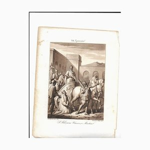 January 24 San Feliciano Bishop and Martyr Engraving by Philip Bigioli