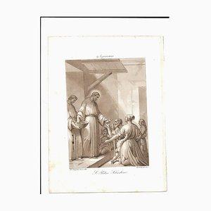 9. Januar St. Peter Sebastiano Radierung von Filippo Bigioli