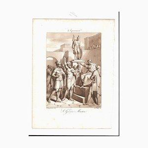 January 3rd St. Gordius Martyr Etching by Filippo Bigioli