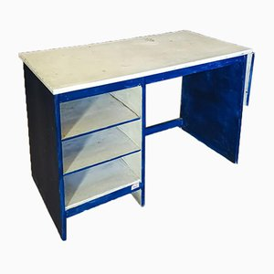 Small Vintage Painted Hardwood Desk, Italy, 1970s
