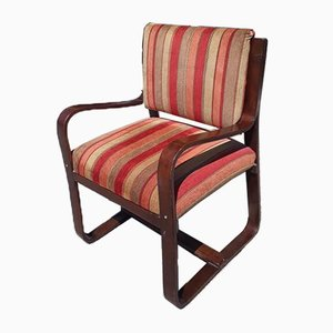 Italian Art Deco Armchair by Giuseppe Pagano for Maggion, 1940s