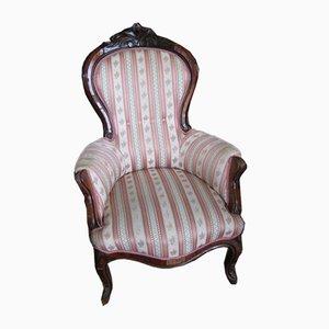 Antique Louis Philippe Walnut Armchair