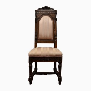 Antique Sellerio Giuseppe Sculpted and Carved Bedroom Chairs, Set of 2