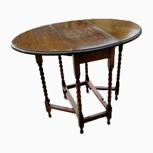 English Oak Bar Table, 1800s