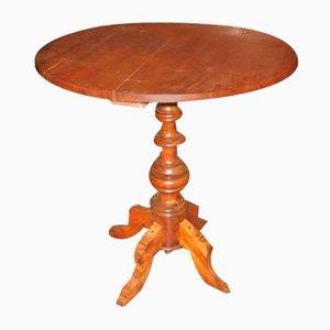 Runder italienischer Tisch aus Nussholz, 1800er