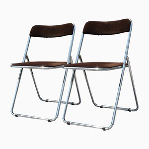 Italian Folding Stools, 1970s, Set of 2