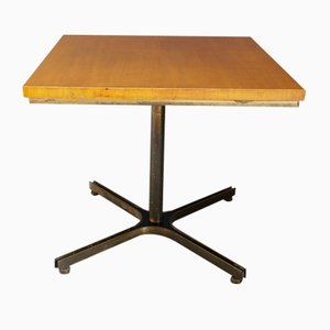 Mid-Century Brass and Wood Dining Table Attributed to Ignazio Gardella, 1950s