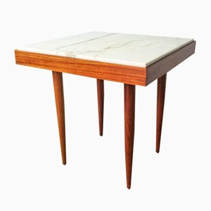Portuguese Tavern Table with Marble Top, 1960s