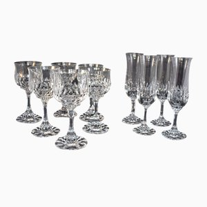 Water and Champagne Glasses by Villeroy & Boch for Villeroy & Boch, 1960s, Set of 10