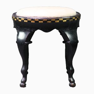 Vintage Stool in the Style of Dagobert Peche for Weiner Werkstatte