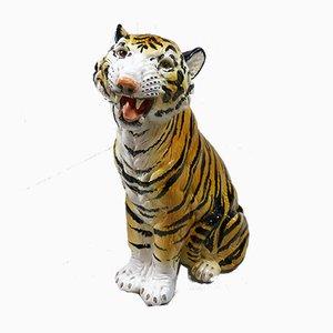 Large Italian Terracotta Tiger Sculpture, 1960s
