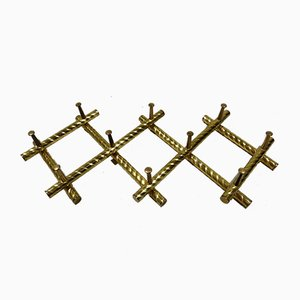Brass Scissor Coat Rack, 1960s