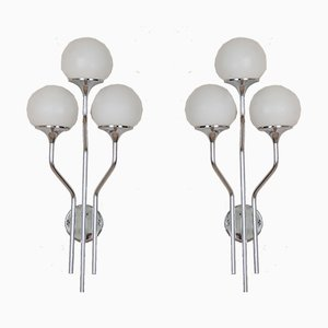 Italian Chrome-Plated Sconces by Goffredo Reggiani, 1960s, Set of 2