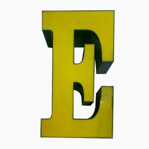 Vintage Plexiglas E Letter Sign