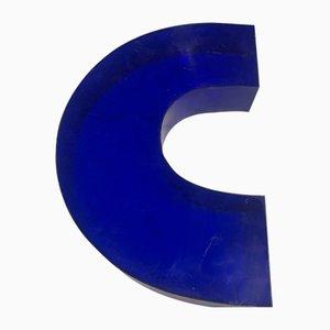 Vintage Plexiglas C Letter Sign