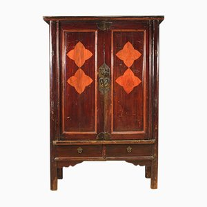 Chinese Exotic Wood Wardrobe, 1950s
