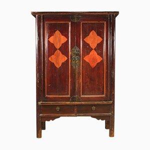 Chinesischer Kleiderschrank aus exotischem Holz, 1950er