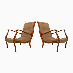 Italian Armchairs by Ezio Longhi for Elam, 1950s, Set of 2