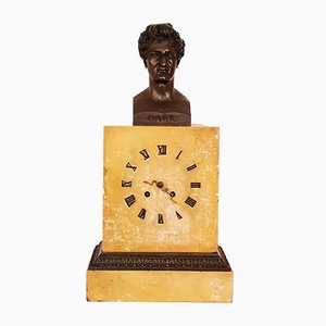 Empire Bollard Clock with Bust of Hermes Cuvier