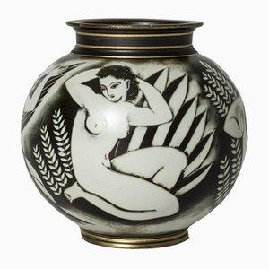 Flambé Vase von Gunnar Nylund für Rörstrand, 1940er