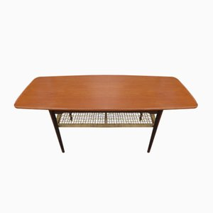 Danish Teak Double Tray Coffee Table, 1960s