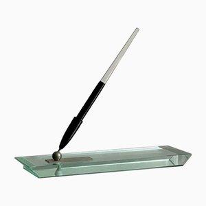 Mid-Century Stifthalter aus Glas von Fontana Arte, 1960er