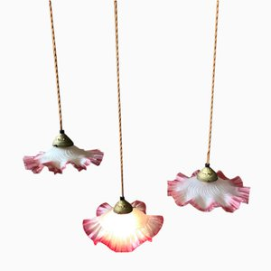 Vintage Pink Ceiling Lamps, Set of 3