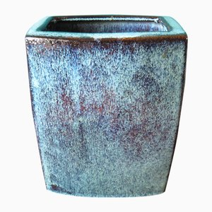 Large Danish Blue Stoneware Vase from Stogo, 1960s
