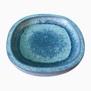 Danish Hollow Stoneware Dish by Per Linneman Schmidt for Palshus, 1960s