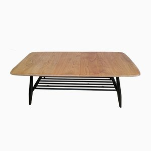 Mid-Century Elm Coffee Table by Lucian Ercolani for Ercol